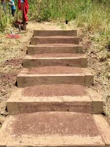 Newly repaired stairs!
