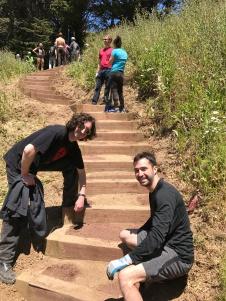 Volunteers that made the stair repair possible!