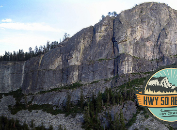 HWY 50 Revival by CRAGS logo. Lover's Leap is pictured in the background.