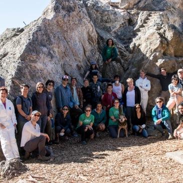 A group photo of Indian Rock Park Adopt-A-Crag participants